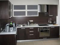 Коричневая кухня — фото цвета, дизайн кухни в шоколадных тонах.