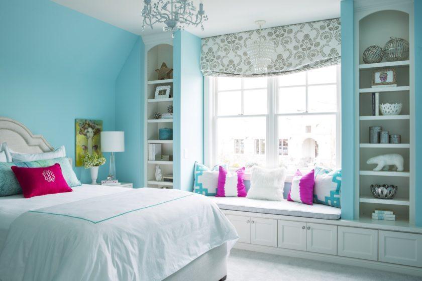 фото бирюзовая спальня